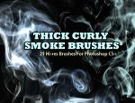 Thick, Curly Smoke Brushes by fiftyfivepixels
