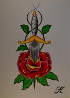 Dagger in rose by BeyondEdge