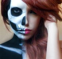 Half Skull Makeup by marymakeup