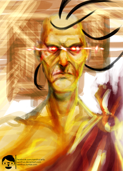 Oro - STREET FIGHTER CHARACTER PORTRAIT #1 by samfruc