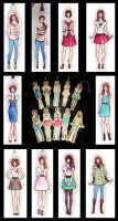 Fashion Bookmark Collection by Achen089