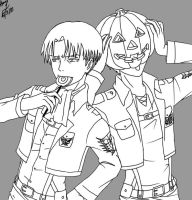 Levi Lollipop and Eren Pumpkin by NihonOaisuru