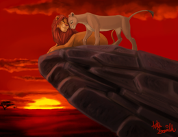 Commission- Simba and Nala by R2ninjaturtle