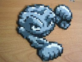 Geodude in Perler Beads by CooltrainerBrooke
