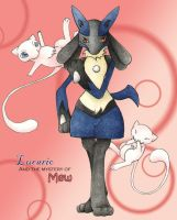 Lucario and Mew by SS-Chan