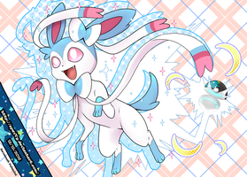 My shiny Sylveon Phoebe + Speedpaint by SpavVy