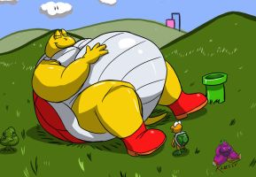 Fatty Koopa by Kazecat