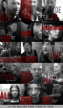 The Walking Dead - icons by Hope636
