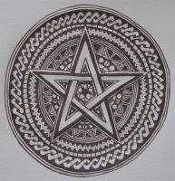 Elaborate Pentacle by dragon-jess