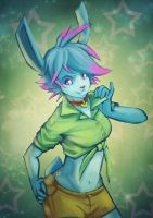 Pink, the Blue Rabbit by ben-ben