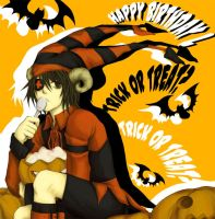HBD.....L...and Halloween by Kira-K