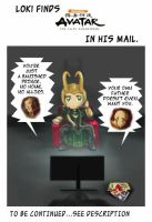 Loki watches Avatar: The Last Airbender by Gnine
