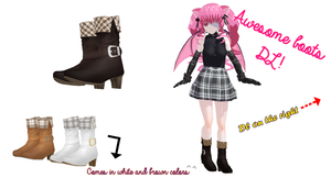 [3DCG/3D Custom Girl] Awesome boots DL! by cycypinkb