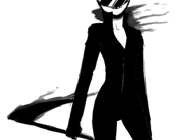 DRRR: Celty doodle by MrGrayLetters