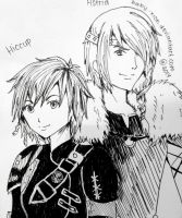 Day 4 : fem!Hiccup and male!Astrid by Baby-xion