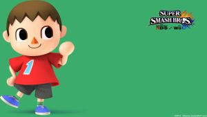 Villager 2|Wallpaper| Super Smash Bros. Wii U/3DS by Gibarrar