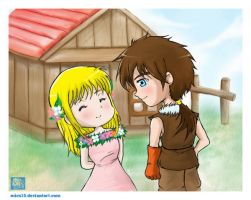 Harvest Moon Cliff x Claire by mics15