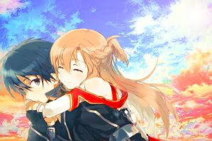 Sword Art Online Kirito and Asuna^^ by kirigawakazuto