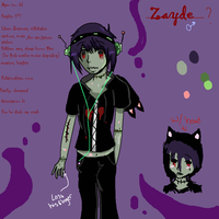 New Character-Zayde ref. by Kiwii-puff