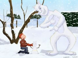 Winter encounter by Conny-from-France