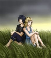 Noctis and Stella. Final Fantasy XV by crybaby-1990