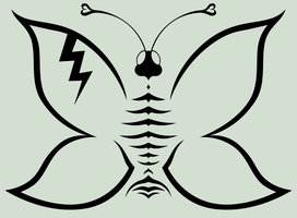 electronic butterfly by FroZnShiva