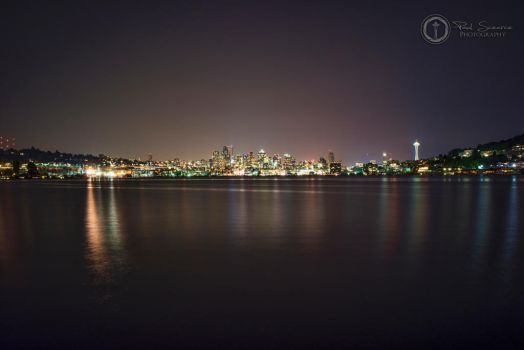 Seattle Sklyline At Gas Works Park Viewpoint by SilentMobster42