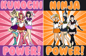 Kunochi and Ninja Power by IcyPanther1