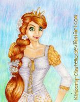Disney: Rapunzel's White Dress by kimberly-castello
