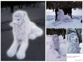 Snowlion by OmegaLioness