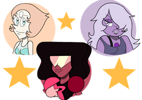 The Crystal Gems (Steven Universe) by SatoshiTakeo