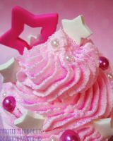 Pink Monochrome Fake Cupcake by FrostedFleurdeLis