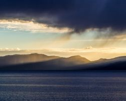 East shore sunset151015-33 by MartinGollery
