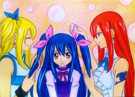 Lucy-Wendy-Erza: Happy Tale by dagga19