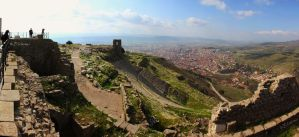 Pergamon and Bergama panorama by Sockrattes