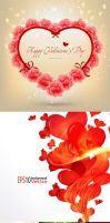 alentines-Day-Heart-Flowers by vectorbackgrounds