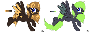 Pallete ponys by PointsandAdoptions