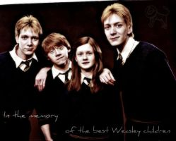 The four Weasley's by JupiterVixen