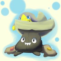 A Sombrero, Trashbag, and Bannana Lizard by prankster-kun