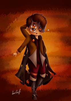 Princey/ Anxiety - Tiger Eye (red) by Harleigh2