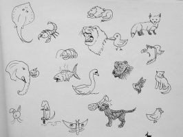 Animal Sketching Fun by Lumoroske