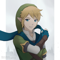 Hyrule Warriors: Link by KiiroiKat