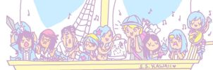 The Sassiest Pirate Crew by buttsprincess