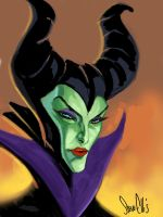 quickie sketch Maleficent by Steve-Ellis