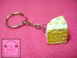 Lemon Cake Keychain by efeeha