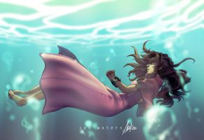 FF7: Sad Waters by ShiroiNeko-sama