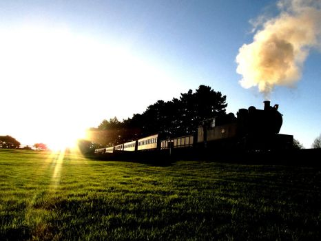 Steam at Sunset by agreenbattery