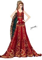 Pakistani Bridal Dress by Shehnoor2412