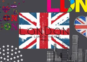 LONDON png's by laurengee