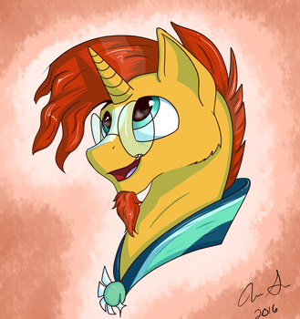 Sunburst Bust by InkyBeaker
